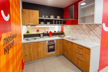 Угловая кухня Лофт в сером