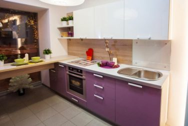 Современная кухня модерн Лаванда
